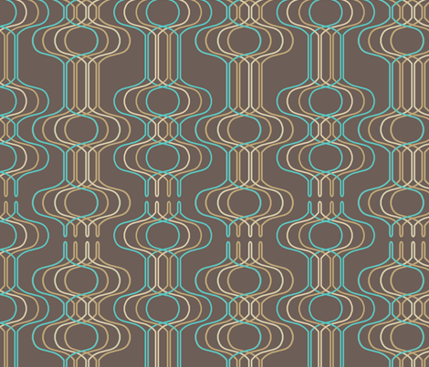 Mingle Blue & Brown fabric by thirdhalfstudios on Spoonflower - custom fabric
