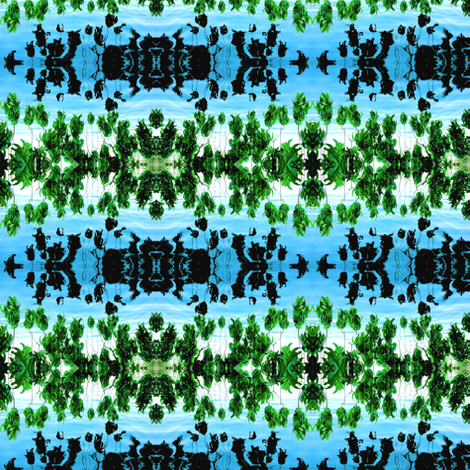 Japanese_gardens_leaves_reflection fabric by glennis on Spoonflower - custom fabric