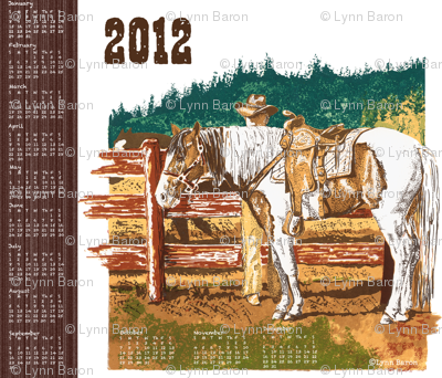 2012 Western Tea Towel