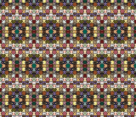 Vintage Puzzle  fabric by icarpediem on Spoonflower - custom fabric