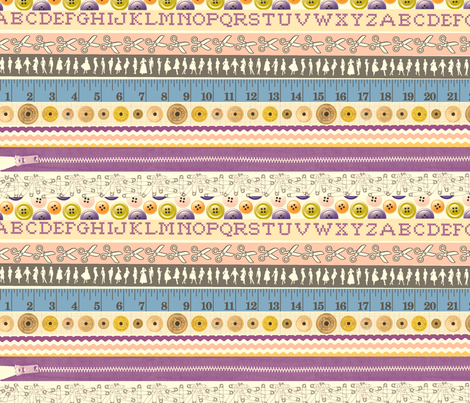 Washi Tape (Sewing) fabric by pennycandy on Spoonflower - custom fabric