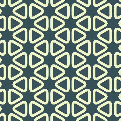 Vintage Soft Triangles Blue Background fabric by stoflab on Spoonflower - custom fabric