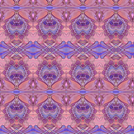 The Conjoined Peacock of Fire fabric by edsel2084 on Spoonflower - custom fabric