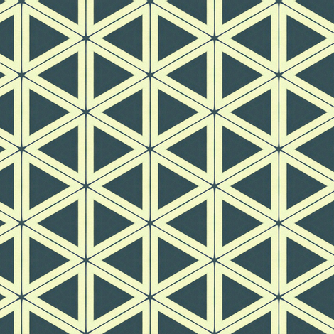 Vintage Triangles fabric by stoflab on Spoonflower - custom fabric