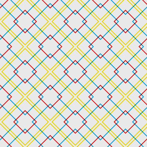 Vintage Colorful Squares fabric by stoflab on Spoonflower - custom fabric