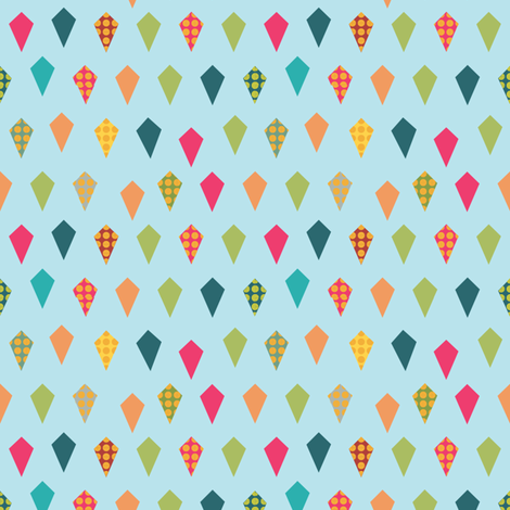 kites fabric by lighthearts on Spoonflower - custom fabric