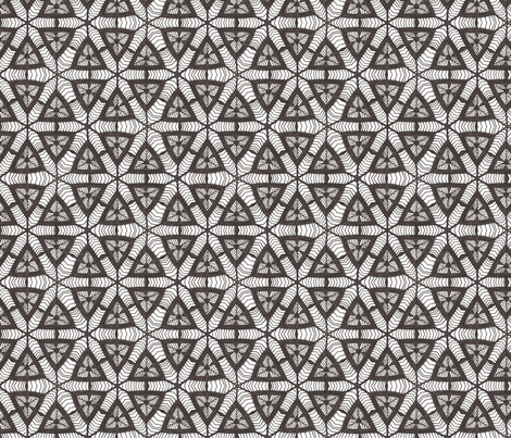 B & W Triangles fabric by siya on Spoonflower - custom fabric