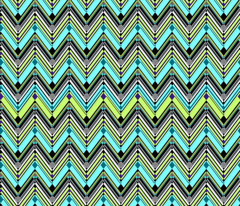 Zig Zag Fresh fabric by joanmclemore on Spoonflower - custom fabric