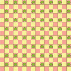 Brilliant Weeds - cream & pink check