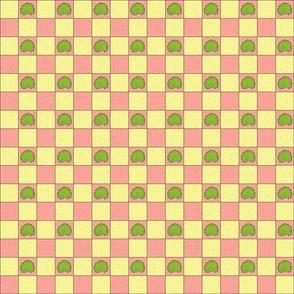 Brilliant Weeds - cream & pink check