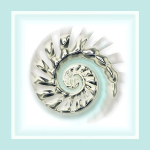 Mercury Glass Nautilus