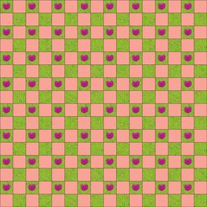 Brilliant Weeds - green & pink check
