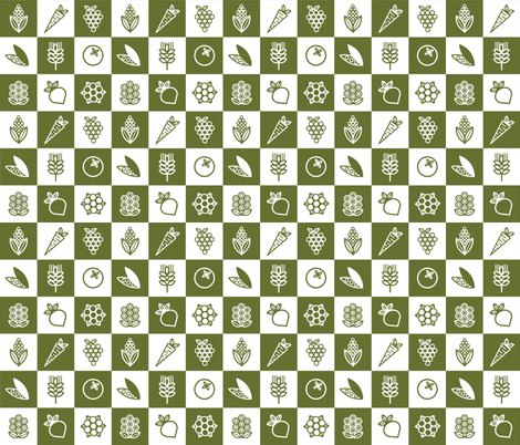 Mod Garden fabric by carolina_medberg on Spoonflower - custom fabric