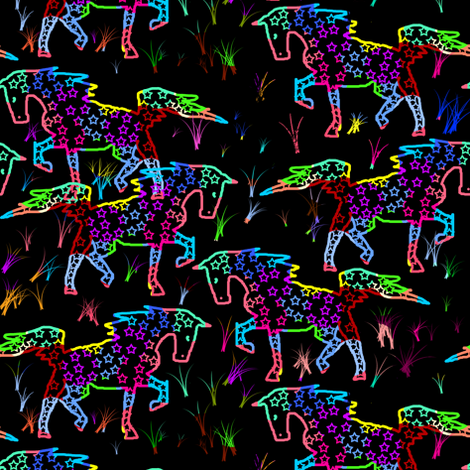 Scratchboard Walking Horse fabric by eclectic_house on Spoonflower - custom fabric