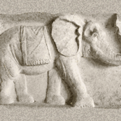 Elephants in relief