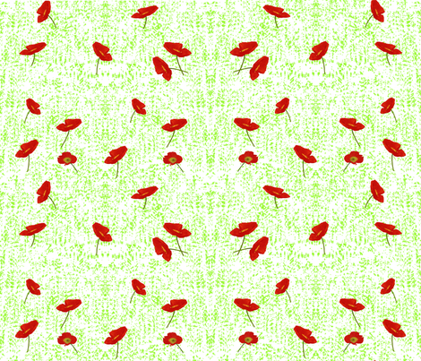 Poppies_2 fabric by itsnaart_fabric on Spoonflower - custom fabric
