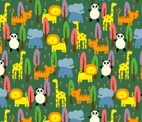 Animals & Trees fabric by lydia_meiying on Spoonflower - custom fabric