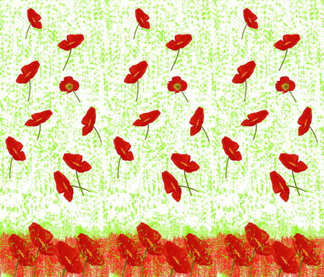 Poppies_Panel fabric by itsnaart_fabric on Spoonflower - custom fabric
