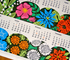 2012 Garden - Flower of the Month Calendar