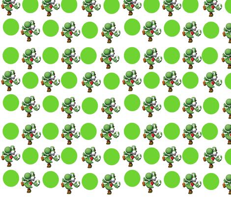 yoshi fabric by geekinspirations on Spoonflower - custom fabric