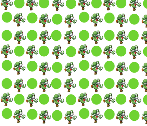 yoshi fabric by geekinspirations on Spoonflower - custom fabric