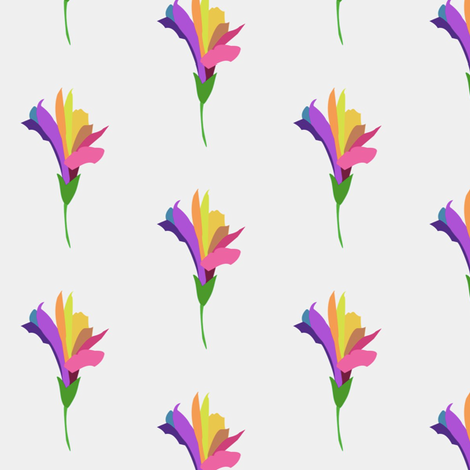 colored petals fabric by anieke on Spoonflower - custom fabric