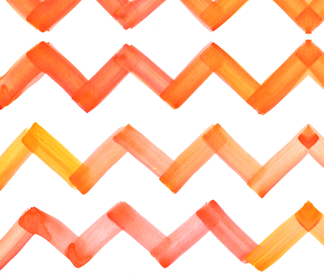 cestlaviv_chevron_yelloworange fabric by cest_la_viv on Spoonflower - custom fabric