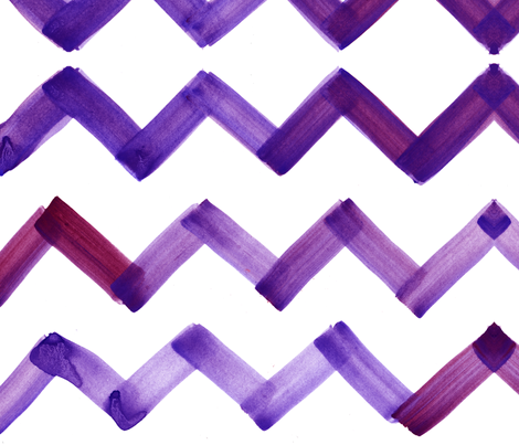 cestlaviv_chevron_redpurple fabric by cest_la_viv on Spoonflower - custom fabric