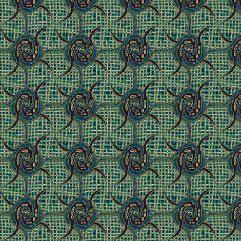 spin rosettes teal gems fabric by glimmericks on Spoonflower - custom fabric