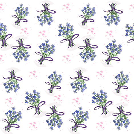 Forget Me Not Bouquet fabric by countrygarden on Spoonflower - custom fabric