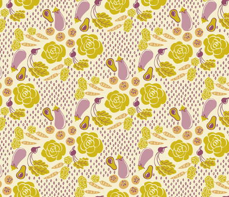 veggie2 fabric by emuattacks on Spoonflower - custom fabric