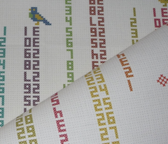 Happy Cross Stitching! - tea towel calendar 2012