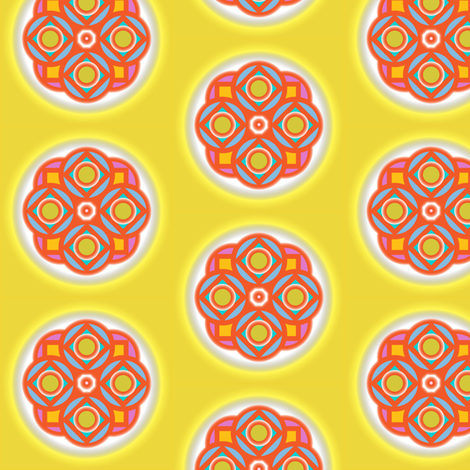 Summer Mandala fabric by david_kent_collections on Spoonflower - custom fabric