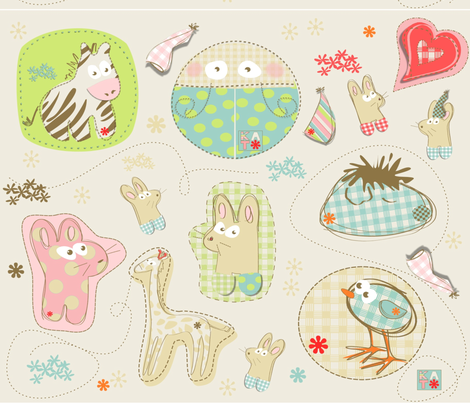 appliques fabric by kato_kato on Spoonflower - custom fabric