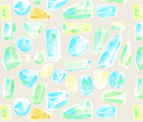 cestlaviv_beach glass on white sand fabric by cest_la_viv on Spoonflower - custom fabric