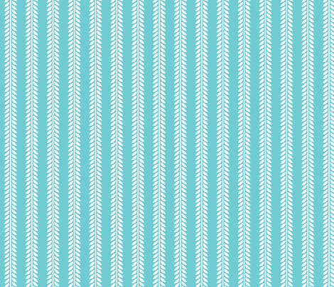 Willow Branch stripe - Blue fabric by siya on Spoonflower - custom fabric