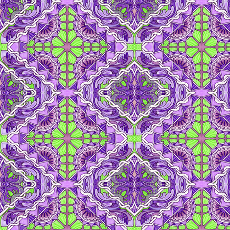 City Lights in purple and lime fabric by edsel2084 on Spoonflower - custom fabric