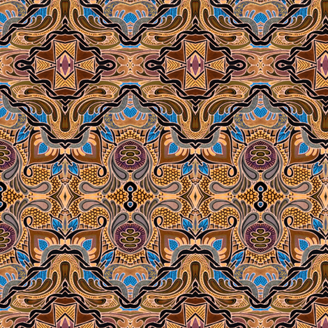 Chocolate and Caramel fabric by edsel2084 on Spoonflower - custom fabric
