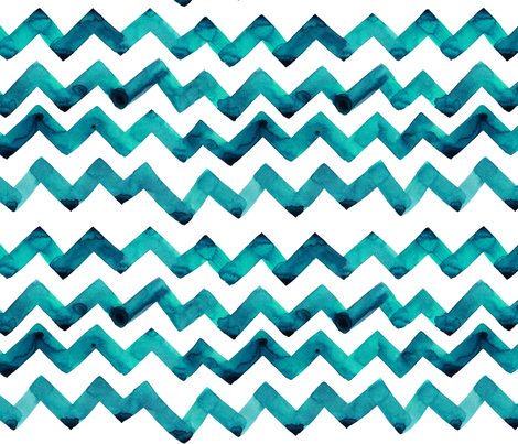 cestlaviv_new teal twostep fabric by cest_la_viv on Spoonflower - custom fabric