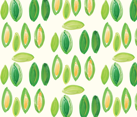 cestlaviv_corn fabric by cest_la_viv on Spoonflower - custom fabric