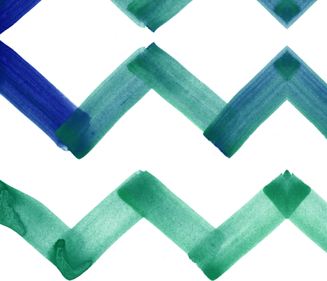 cestlaviv_chevron_emerald fabric by cest_la_viv on Spoonflower - custom fabric