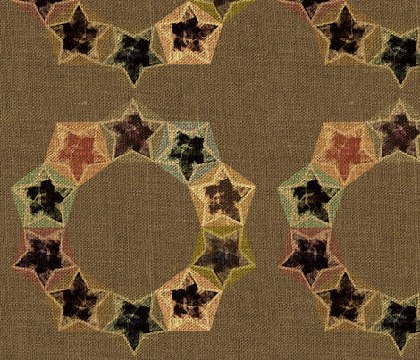 Star Wreath fabric by meredithjean on Spoonflower - custom fabric