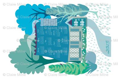 Storybook cottage 2015 calendar - tea towel