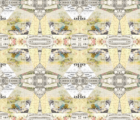 Quilty Flower Too fabric by peagreengirl on Spoonflower - custom fabric