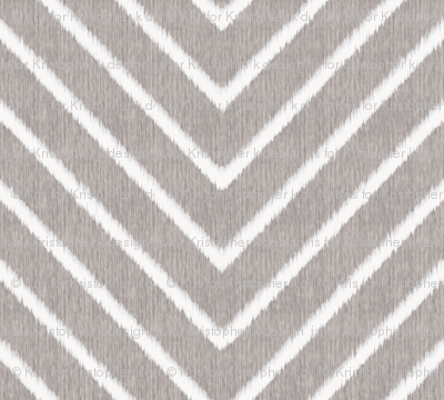 Chevron Chic - Maxi - Silver Grey