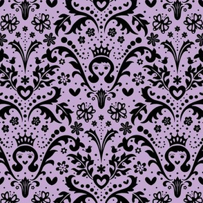 Happy Princess Damask in Purple