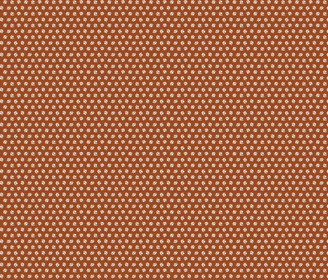 Rust & white calico fabric by the_cornish_crone on Spoonflower - custom fabric