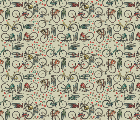 Bikes fabric by catru on Spoonflower - custom fabric
