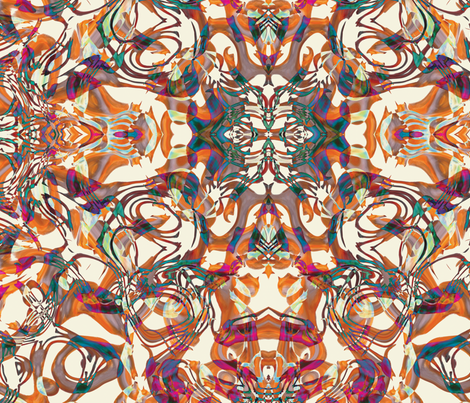 Foxy Abstract, L fabric by animotaxis on Spoonflower - custom fabric