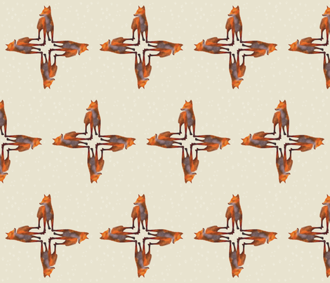 Standing Fox Design, L fabric by animotaxis on Spoonflower - custom fabric